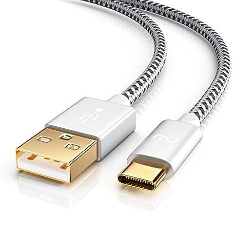 0.5m Câble USB Type-C à USB Type-A   Fil Tressé de en Nylon   Câble de Données et Câble de Charge   pour Macbook, ChromeBook Pixel, Nexus 5X ecc   noir / blanc