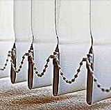 20 Beschwerungsplatten Gewichte mit Kette 13 cm Lamelle Lamellenvorhang