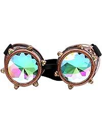 Xshuai 17 6 cm Kaleidoskop Bunte Gläser Rave Festival Party EDM Sonnenbrille Beugte Objektiv Für Weihnachten Festivals (B)