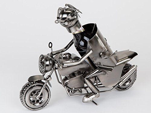 Motorrad-Fahrer Bierflaschenhalter 30 cm Originelle Geschenkidee für Biker