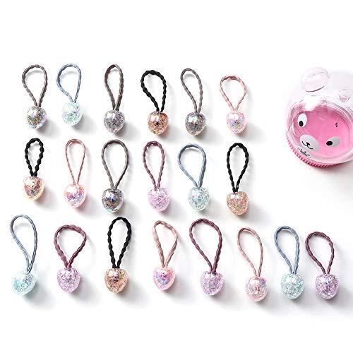 Shiningbaby Baby Mädchen Haar Bobbles Boutique Elastische Bowknot Hairband Pferdeschwanz Inhaber 10...