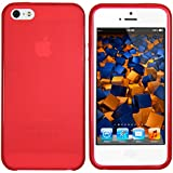 mumbi Coque de protection pour iPhone SE 5 5S TPU gel silicone transparent rouge