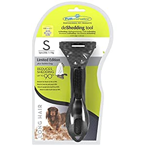FURminator DeShedding care tool for long-haired small dogs, limited edition 10