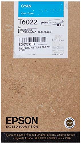 Epson T6022 Cartouche d'encre d'origine Cyan