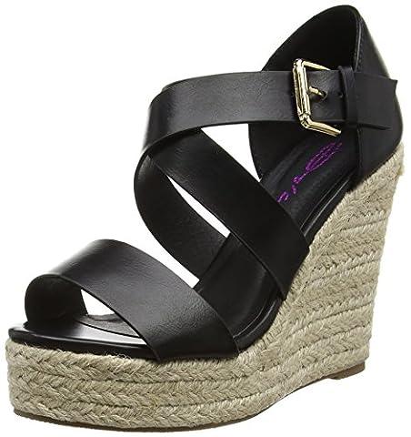 Dolcis Heidi, Women'S Wedge Sandals, Black (Black), 3 UK (36 EU)