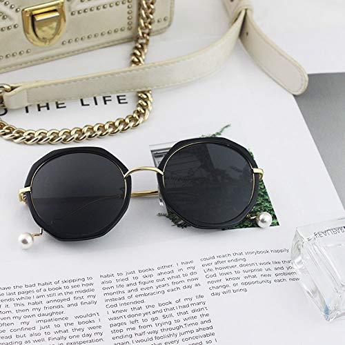 Szblk Sport-Sonnenbrille Polarisierte Sonnenbrille Fahrsonnenbrille Outdoor-Sonnenbrille 100% UV-Persönlichkeit Retro-Spiegel (Color : Black)