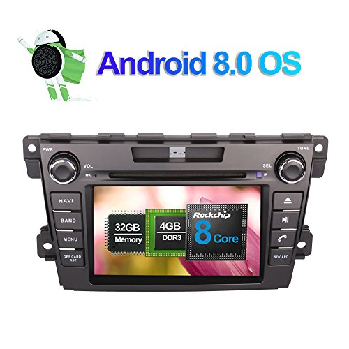 Android 8.0 Autoradio Stereo 4GB RAM GPS Navigation für Mazda CX-7 2007- mit 8 Zoll Bildschirm 32GB ROM Unterstützung DVD Multimedia Player Bluetooth FM AM RDS WLAN Kamera Eingang 1080P Video Cx Gps-systeme