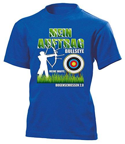 Mein Auftrag Bullseye Meine Waffe Bogenschiessen 2.0 1048 Kinder T-Shirt (K-B) Gr.140