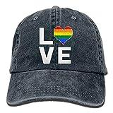 Nifdhkw Love Rainbow Heart - Berretto da Baseball per Adulti Unisex per Gay e Lesbiche per Adulti unisex19