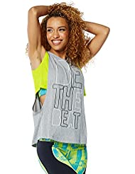 Zumba Fitness Be The Beat Cutout Débardeur Femme Thunderin Grey Heather FR : XXL (Taille Fabricant : XXL)