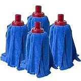Fregola Pack de Mopas, Tejido de Microfibra, Azul, 35x28x8 cm, 4 Unidades
