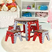 Samger Samger Portable Table and Chair Folding Desk Stools Set Suitable for Childrens Adult Homes Camping Outdoor Garden