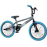 20' BMX deTOX Freestyle Kinder Neu Anfänger ab 130 cm, 7 J., Farbe:grau/blau