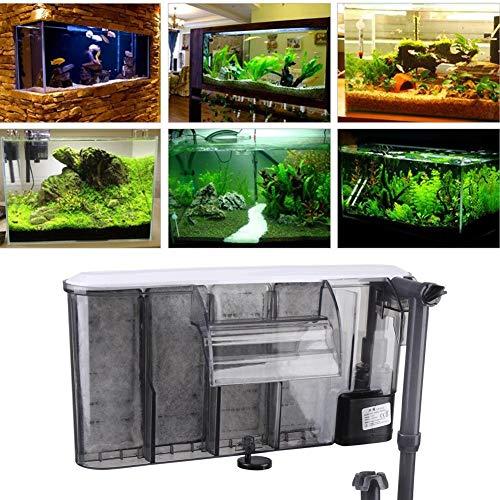 Aquarium Filter , elektronisch steuerbarer Außenfilter für Aquarien , Aufhängen Aquarium Filter Externe hängende Aquarium Power Filter,Aquarium-Komplettset mit LED-Beleuchtung