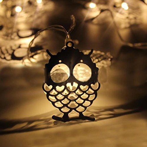 Xshuai Qualitäts-heißer Verkauf 10 LED Halloween-Weihnachtshochzeitsfest-Festivals-Dekor-im Freien feenhafte Schnur-helle Lampe (A: 4.5 * 3.5cm; B: 8 * 4.5cm; C: 3 * 2.5cm; D: 6.5 * 4.5cm Gelb) (Halloween Im Freien Dekor)