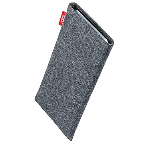 fitBAG Retro Noir housse pochette pour téléphone portable en tissu intérieur en microfibres pour Apple iPhone 6 / 6S / 7 with Apple Leather Case Jive Gris