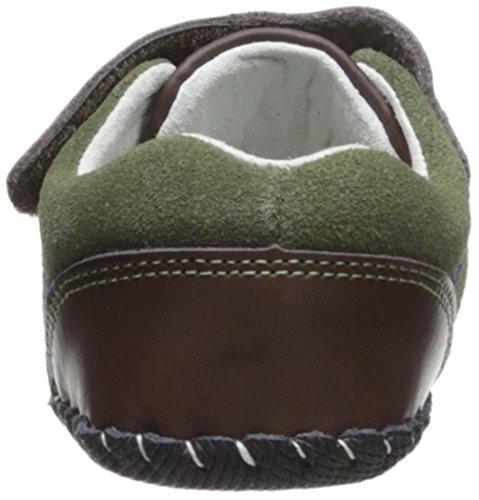 Pediped Originals Gordon Olive Leather Baby Soft Soles Olive
