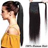16 inch Human Hair Ponytail Extension 100% Remy Wrap Around Ponytail One Piece