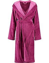 ea157a94a9 Michaelax-Fashion-Trade Lago - Damen Velours Bademantel mit Kapuze in  verschiedenen Farben (