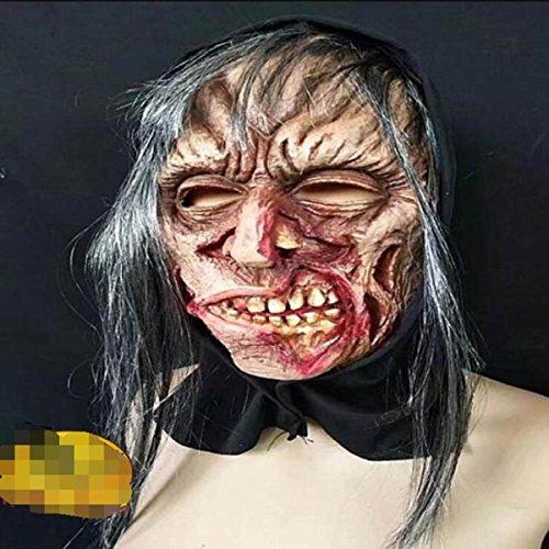 Halloween Halloween Horror Ghost Hood Maske Scary Ghost Devil's House Party Verkleiden Sich,A1 (Maske Scary Ghost)