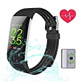 Fitness Tracker, MagicBuds Activity Tracker with 24 hours continuous Heart Rate Monitor IP67 Waterproof/Sleep Monitor/Pedometer/Calorie Counter/GPS Route Tracking/for Android and iOS
