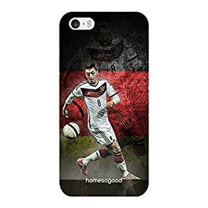 HomeSoGood Mesut Ozil Football Multicolor 3D Mobile Case For iPhone 5 / 5S (Back Cover)