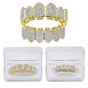 MagiDeal Kristall Verschönerung obere & untere + 2 Modellierelemente – Zahn Schmuck