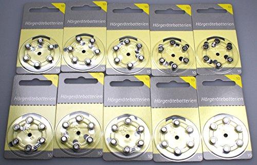 Hörgerätebatterien Größe 10er 60 Stück