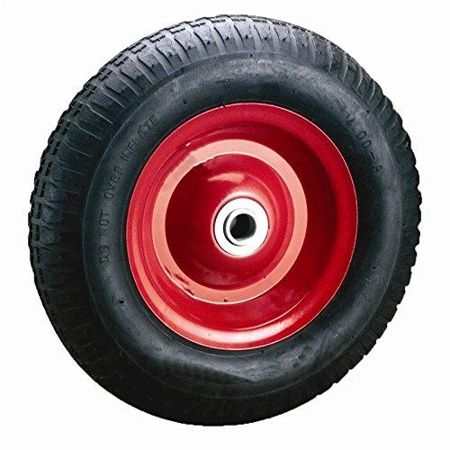 Preisvergleich Produktbild Schubkarrenräder Schubkarre Rad Ersatzrad Luftrad Felge rot 3,50-8