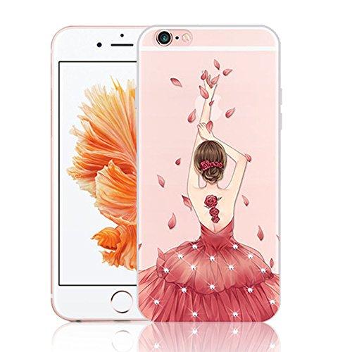 Housse pour iPhone SE TPU Silicone Coque, Vandot Souple Etui pour iPhone 5 5S Motif Robe Élégante Case Cristal Clair Transparent Etui Beau Motif Fille...