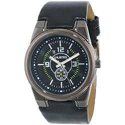 UNLISTED ArmbanduhrES Herren UL1094 City Streets Triple Black Round Analog Armbanduhr