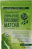 Polvere di tè verde Matcha biologico del Dipartimento di Agricoltura Statunitense (USDA) - Integratore dimagrante totalmente naturale e detossificante - Stimolatore di metabolismo & bruciatore di grassi - Perfetto per frappè, frullati e dolci - 113 grammi alimentare