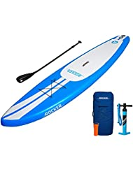 Tabla inflable de paddle surf iRocker, 335x76x15cm Conjunto SUP (Azul)