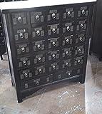 Antiker Apothekerschrank Aktenschrank Büroschrank Apotheke Schrank Sideboard Kommode Kommodenschrank Sideboardschrank mit 27 Schubladen Breite97xHöhe107cm