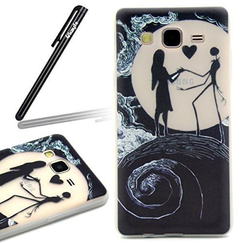 Coque pour iPhone 6, iPhone 6 Noctilucent Silicone Coque Slim Transparent Housse, iPhone 6s TPU Coque Souple Etui, iPhone 6 / 6s Silicone Case Soft Cover, Ukayfe Etui de Protection Cas en caoutchouc e nuit filles