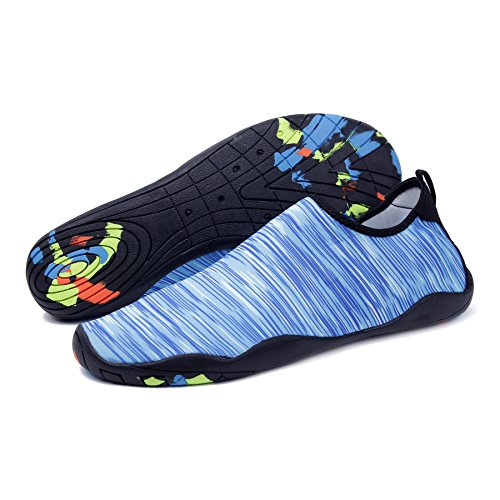 Kealux Uomo Donna A Piedi Nudi Quick-dry Sport Acquatici Scarpe Sneakers Multifunzionali Con Fori Di Drenaggio Per Nuoto, Passeggiate, Yoga, Lago, Spiaggia, Giardino, Parco, Guida, Canottaggio A.blue