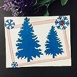 WOZOW Scrapbooking Stanzschablone Prägeschablonen Schablonen Stanzmaschine Stanzen Stanzformen Zubehör Weihnachtskarte