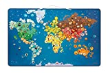 Janod 02889 - Magnetische Weltkarte - Tiere inklusive 201 Magnete, 72 x 46 cm