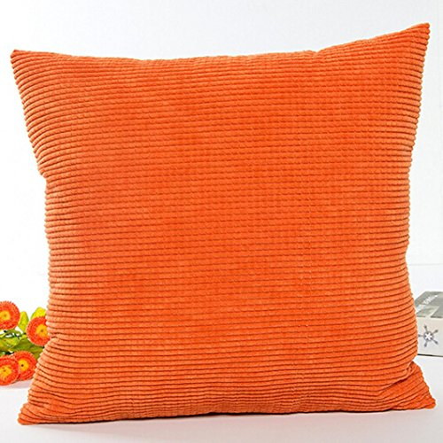YanHoo Pillow Case Sofa Waist Throw Cushion Cover Home Decor (Orange)