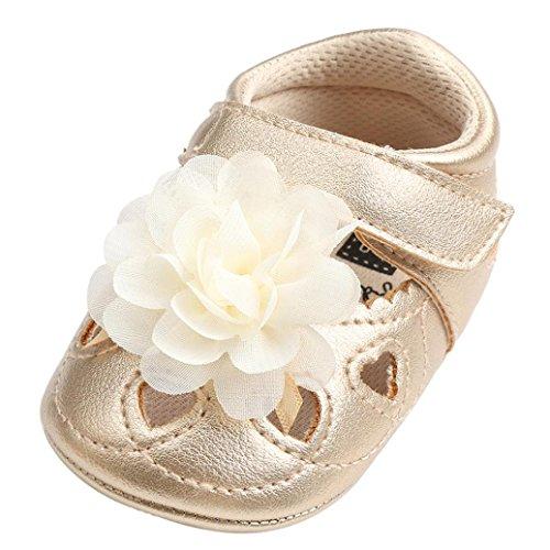 Für 0–18Monate, Türkei Baby Kinder Mädchen Blume Hohl Aus Sandalen Mode flach Pricness Schuhe Kinder Spring Summer Lovely Anti-Rutsch Slipper 6-12 Months ()