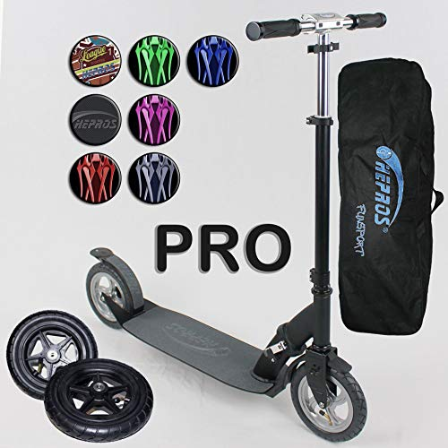 Hepros XXXL Ultra Air Scooter 205mm Cityroller Black PRO Edition Farbauswahl Carbon