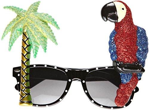 apagei und Palme, tropischer Stil, Einheitsgröße (Lustige Sonnenbrille)