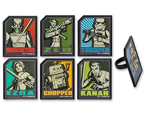 Star Wars Rebels Cupcake Rings-12 Count by DecoPac