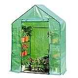 Miniserre Serra da Giardino Balcone Cottage Greenhouse - 3 Livelli Mini Green House con Copertura Resistente, 143 × 73 × 195 cm (Colore : Green)