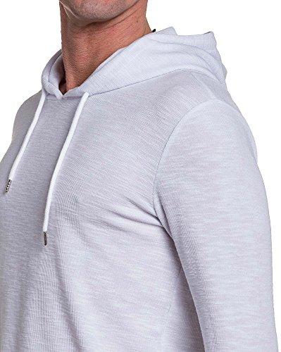 Project X - Shirt Mann langärmliges weißes Hoodie Weiß