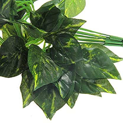 Luwu-Store Reptile Terrarium Artificial Sharp Leaves Scindapsus Aureus Chameleon Lizard Decoration Habitat Non-Toxic 5