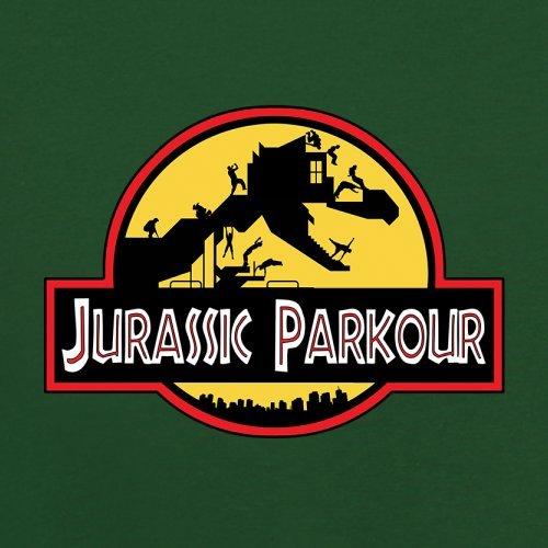 Jurassic Parkour - Herren T-Shirt - 13 Farben Flaschengrün