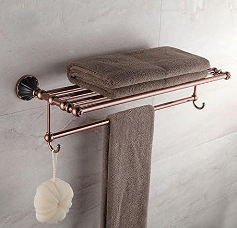 DZYZ European Style Towel Gold Full Copper Bath Towel Rack Bathroom Bathroom Accessories , Gold , 63cm