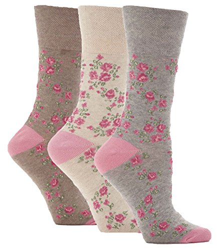3-pairs-non-elastic-gentle-grip-socks-soft-cotton-honeycomb-top-size-4-8-womens-hr10g3