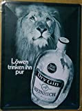 Löwen Dry Gin Blechschild Gewölbt Neu 30x40cm S4406